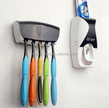 High quality Automatic Toothpaste Dispenser / 5 Toothbrush Holder Set Wall Mount Stand