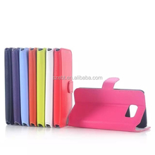 NEW arrive Skin imitation of South Korea fashion PU leather case COVER stand for Samsung Galaxy S6