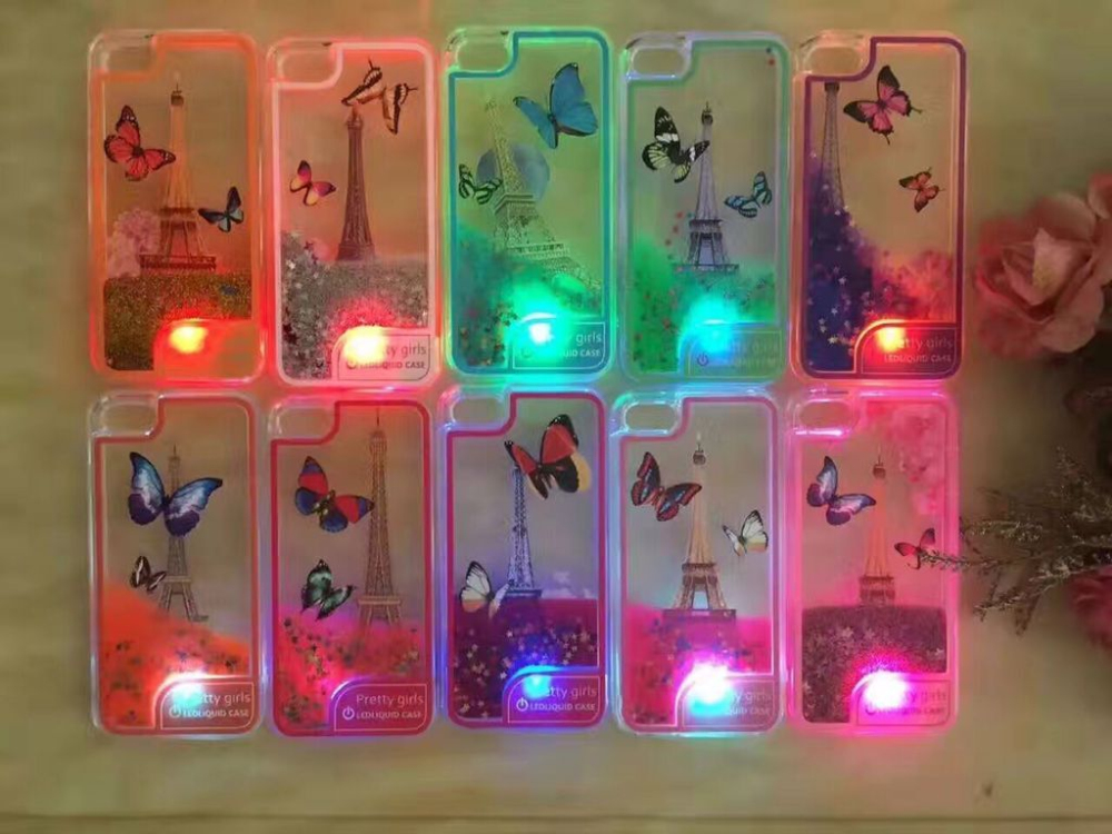 Christmas Gift Cell Phone Accessories TPU Soft Material LED Light Phone Case for iphone 7