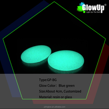 durable customized blue green glow in the dark pebble GP-BG can use for landscaping and pathway and decoration