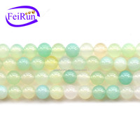 FEIRUN 612mm apple color green aventurine rough stone, green agate beads, agate red stone carnelian
