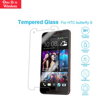 Guangzhou for HTC Butterfly S Clear Tempered Glass Screen Protector 9H Milo Tempered Glass