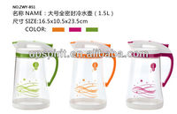 New Product Low MOQplastic water pitcher and jug with handle 1.5L