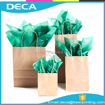 Factory Manufacture Gift Package Customized Offset Printing Recyclable Kraft Gift Paper Bag