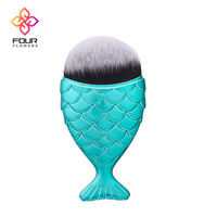 Hot New Fashion Fish Scales Face Blush Cosmetic Blending Highlighter Women Beauty Accessories 2018 Makeup Mermaid Brush