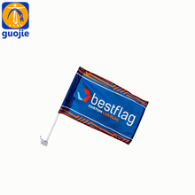 polyester material plastic pole custom mini window car flag