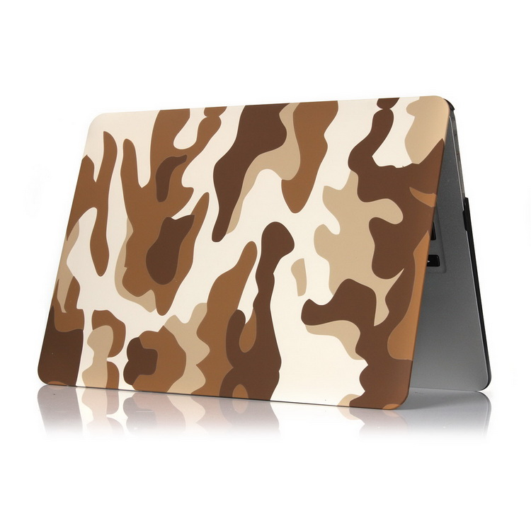Military Camouflage Pattern Hard Plastic Case for Macbook Pro 13 with Touch Bar Brown