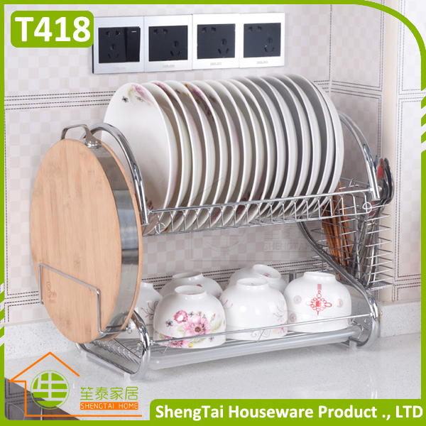 Attractive Price OEM and ODM 2-tier tray under cabinet dish rack