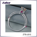 Single stone elegant 925 silver ring wholesale for engagement