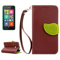 Factory price leather case for Nokia Lumia 530 mobile phone case