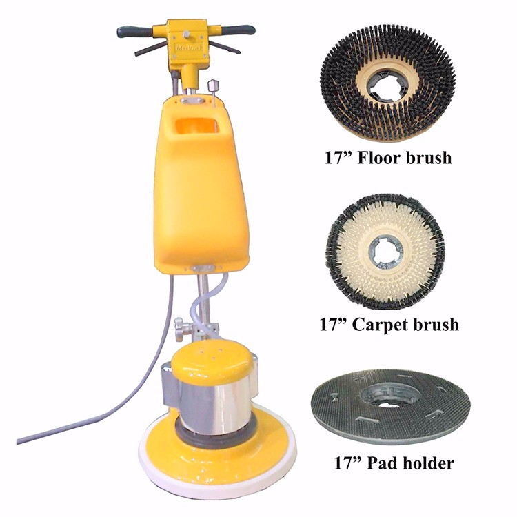 220V Electric Floor Scrubber 110V Single Plate Marble Floor Cleaner