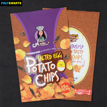 Professionally custom stand up pouch plastic packing bag with internal foil for potato chips,snack food packaging