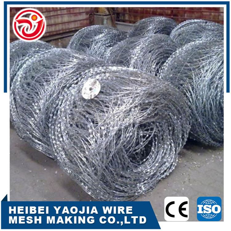Chinese Supplier Cheap Stainless Steel Pvc Razor Barbed Wire