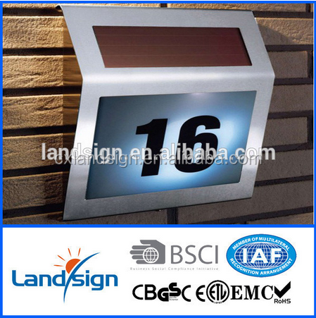 oem factory cheapest price low voltage solar home system high quality stainless steel solar address light