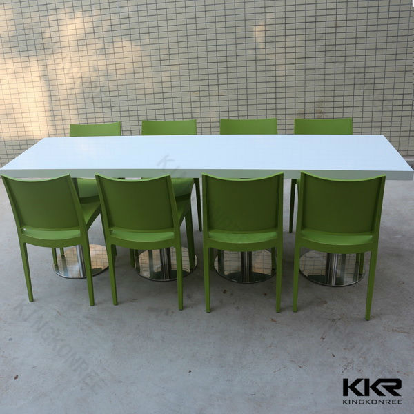 Good quality solid surface 10 person dining tablea
