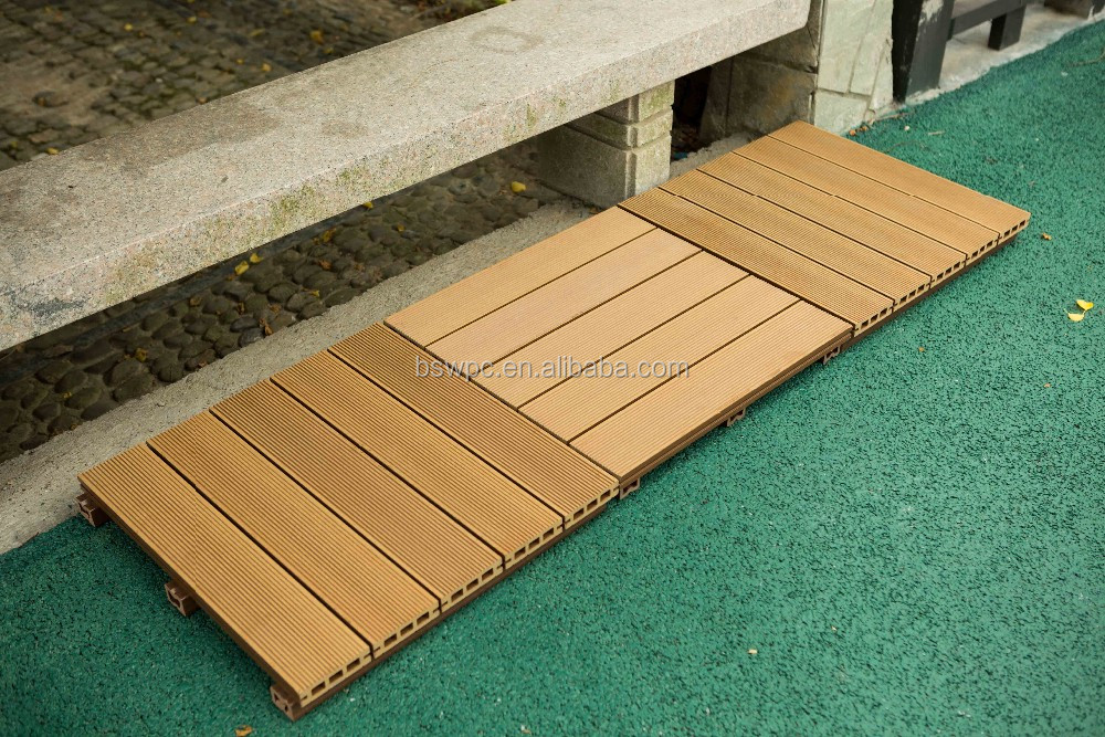 500 500mm non slip wood plastic composite wpc decking for Non wood decking material