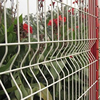 White pvc coated or powder coated welded wire mesh fence