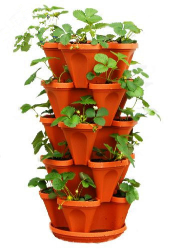 Vertical aeroponic plastic large planter pot garden systems tower