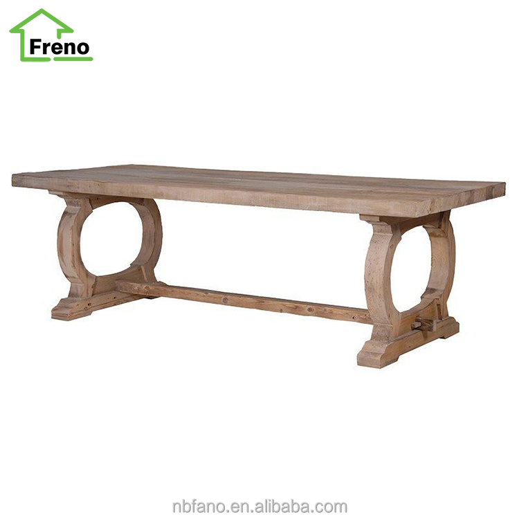 Reclaimed Elm Furniture 2.4m Dining Table Wooden Console Table