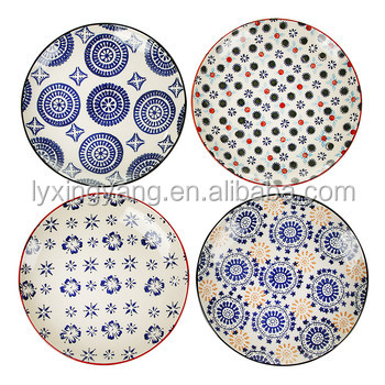 2017 new product customized full decal cheap porcelain plate , hot sale china white ceramic dinner charger plate