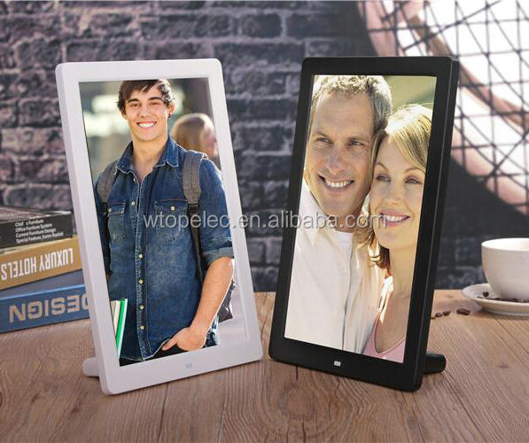 New Arrival ultra-thin vertical large size 12 inch digital photo frame, video, slide show, calendar, clock