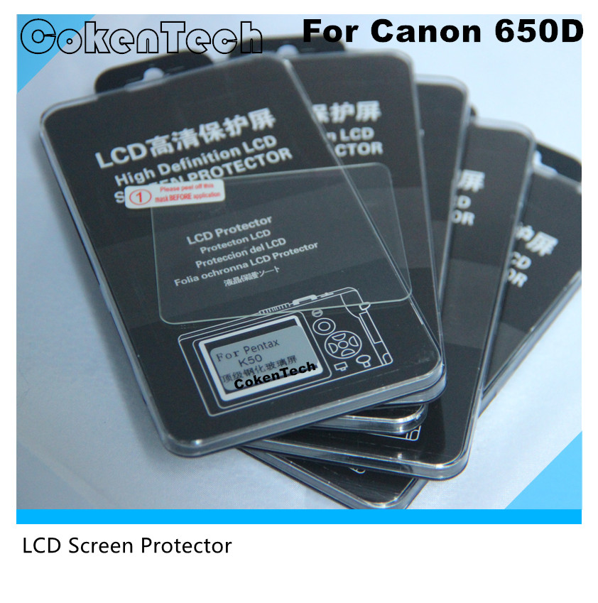 Professional Digital Camera LCD Screen Protector for Canon 650D