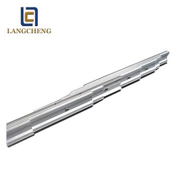 telescoping aluminum slide rails for extension dining table