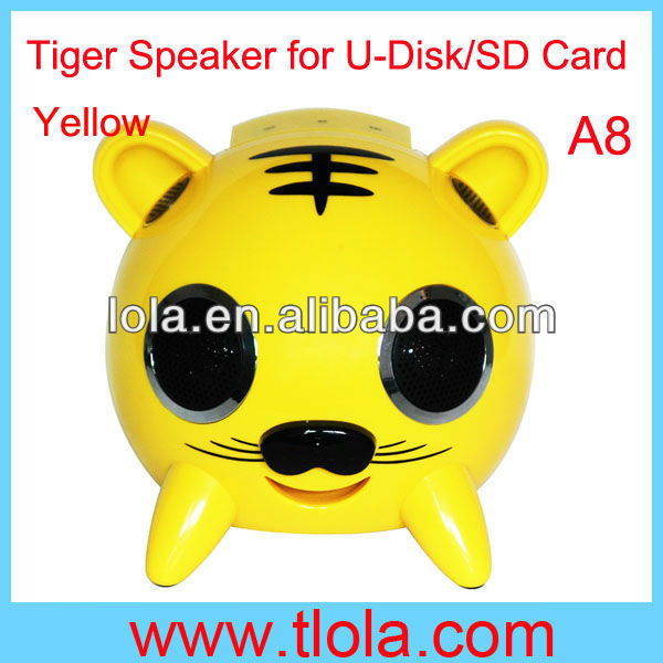 Tiger Speaker for U-Disk SD Card MMC Card Music Playing