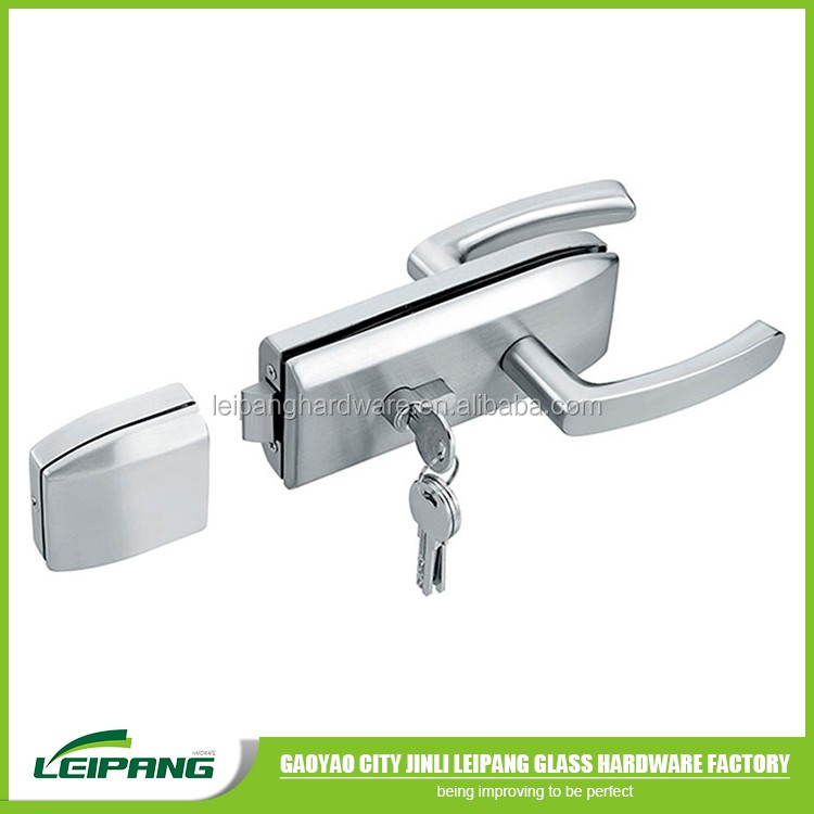 201 SUS stainless steel glass sliding door lock for home use