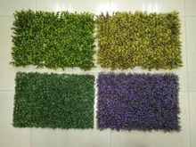 Decorative synthetic grass garden fence panels