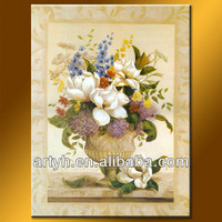 2014 Famous decorative canvas painting flower picture