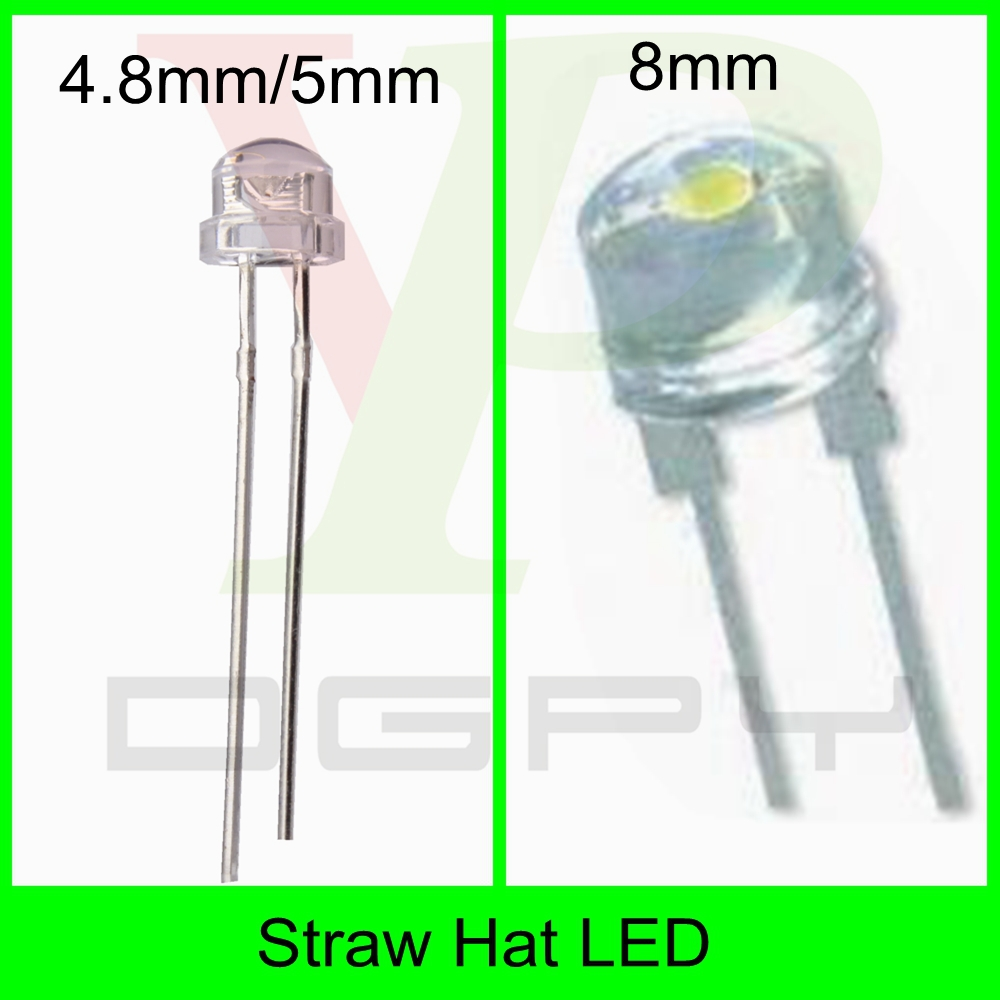 2-pin 5mm 3mm flat top diode