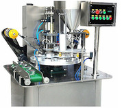 Automatic rotary type PP cup filling and sealing machine for yogurt