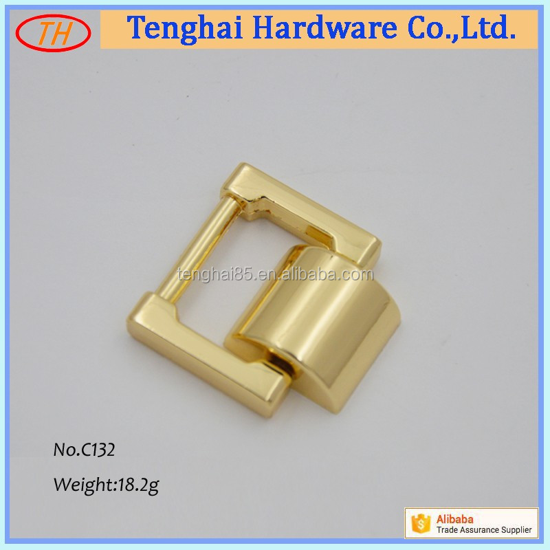 Zinc alloy 19.5mm square ring buckle metal hardware for bag handle