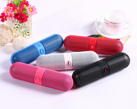 Cute Pill Shape Portable Solar Mobile Phone Loud Bluetooth Speaker