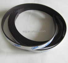 Self adhesive backed magnetic rubber strips