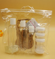 Leak Proof Refillable travel cosmetic bottle set With clear PVC Bag