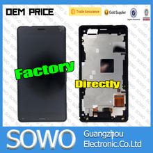Mobile phone accessories for sony xperia z3 mini lcd screen with digitizer