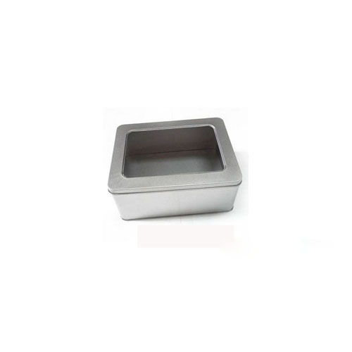 Best Quality Square Tin Can Food Box With Window