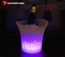 PP led ice bucket for champagne
