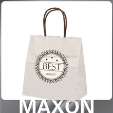 Wedding luxury kraft paper bag with handle for clothes/shopping mall/exhibition