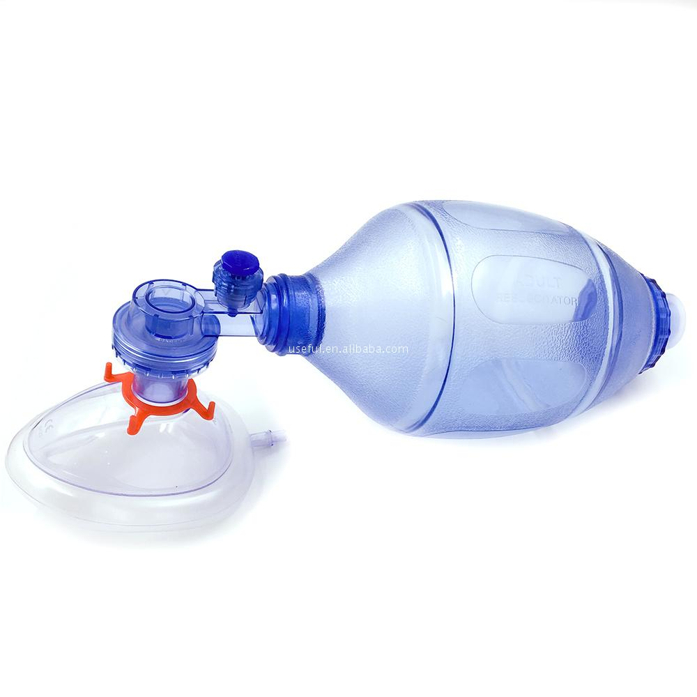 Pvc resuscitator emergency oxygen medical kit