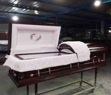 Factory Price caskets FEMALE ESTHER CHERRY MDF casket with casket interiors fabrics