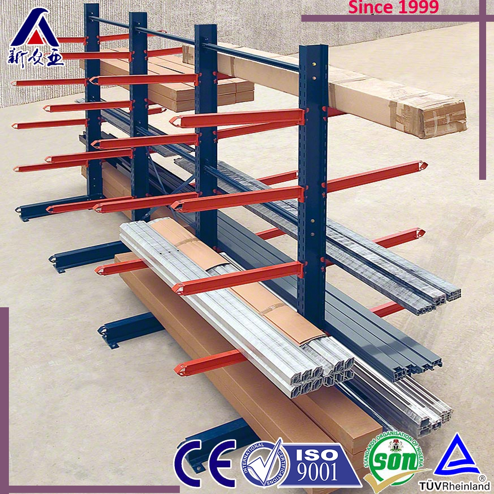 ISO certification iron 250kg/arm raw material storage rack