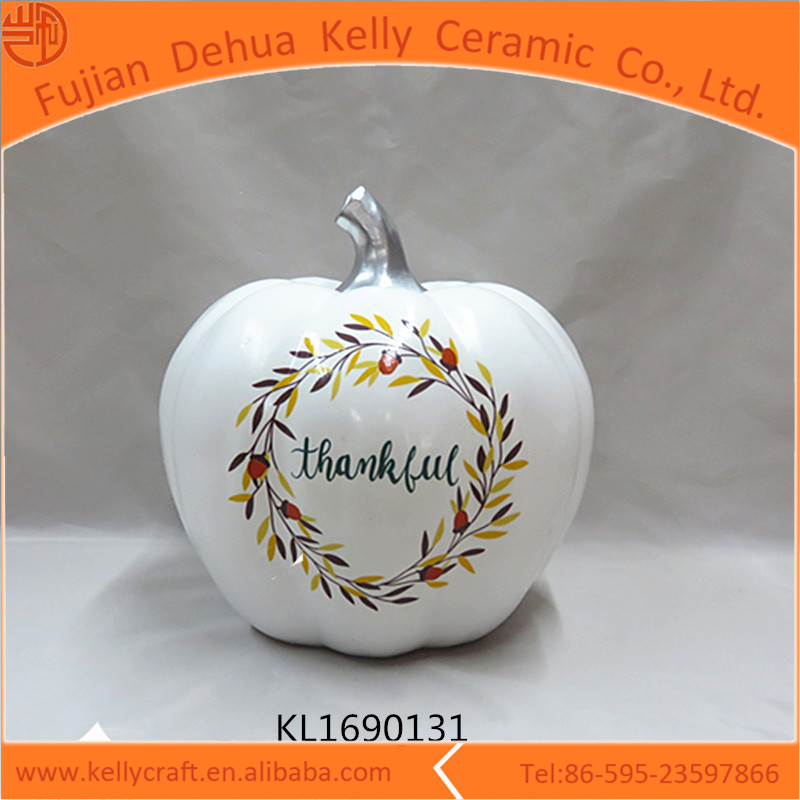 Home decor white ceramic home outdoor decorating pumpkins