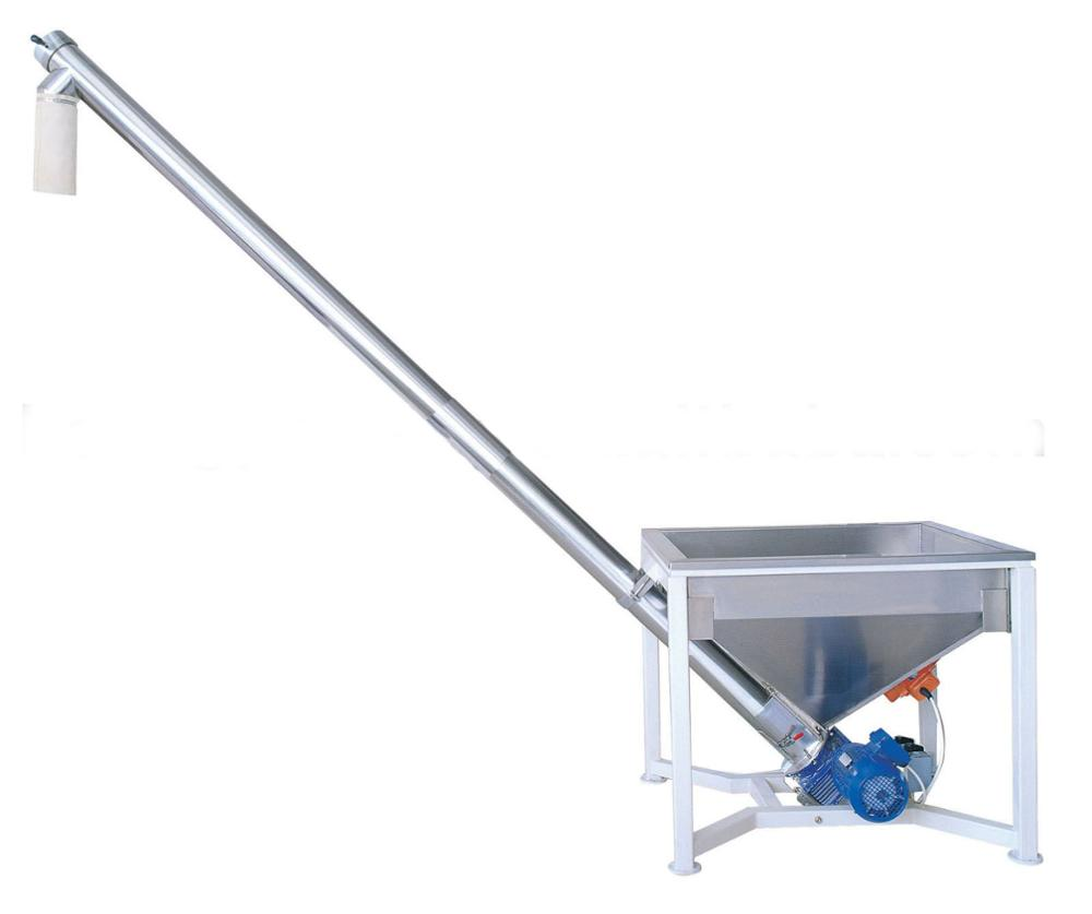 flexible auger feed system for milled malted wheat