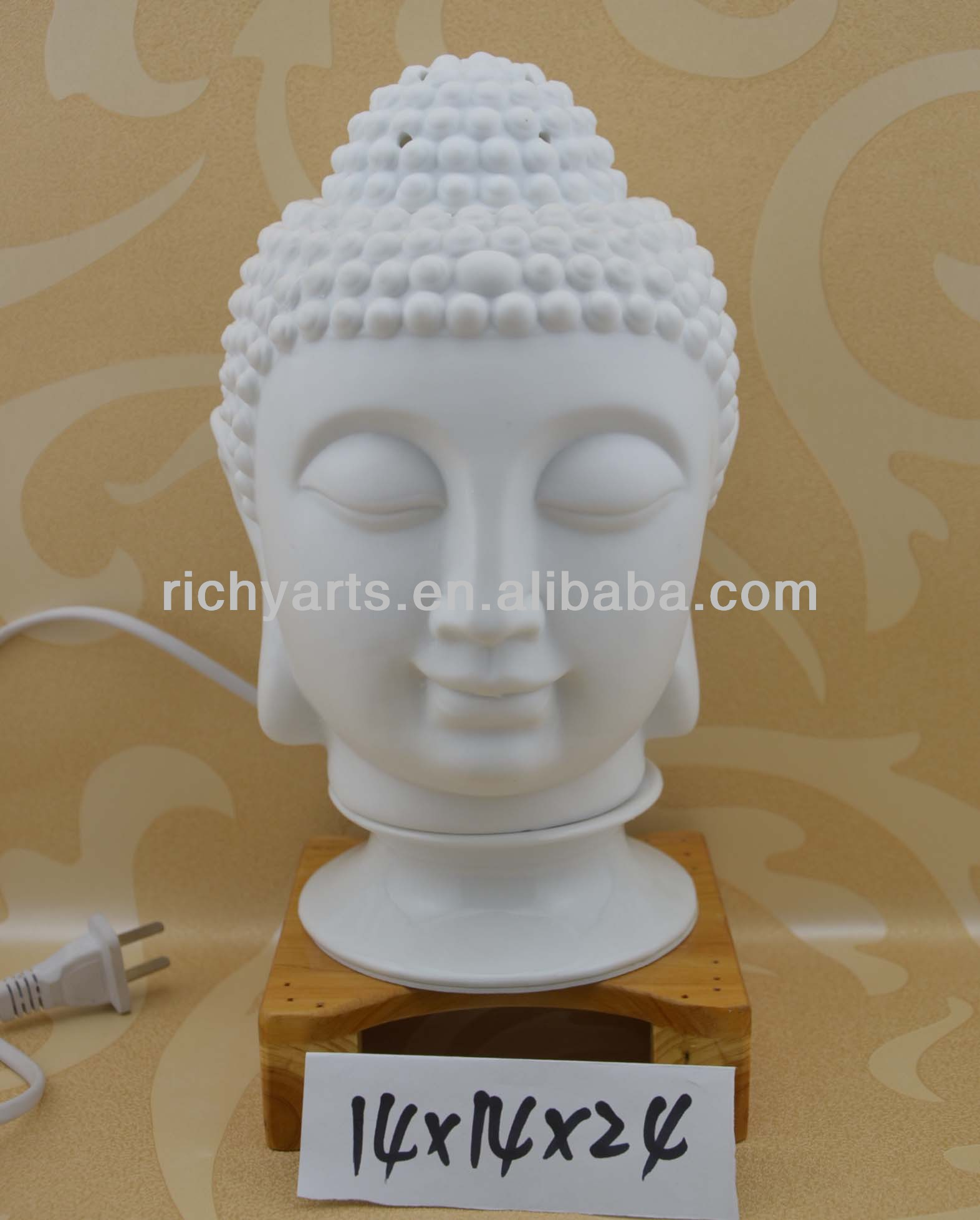 hand made white ceramic electric oil burner lamp with fragrance function