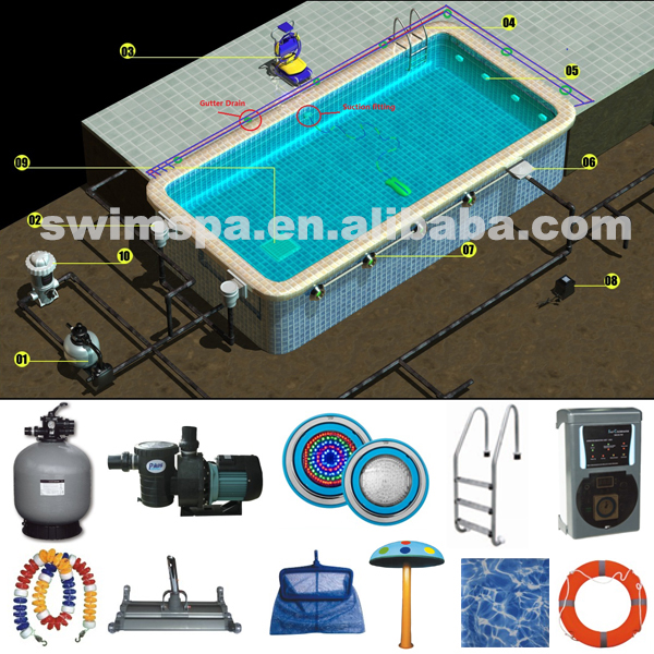 Pool used swim spa pool equipment for sale