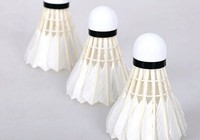 goose broad feather shuttlecock/cheaper shuttlecocks/oem top badminton rackets
