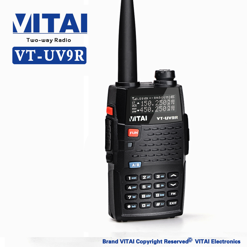 VITAI VT-UV9R 3-5KM Long Range Handheld 2 Way Radio VHF/UHF Similar with Baofeng UV-5R Dual Band Two Way Radio